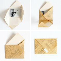 Passo A Envelope Catavento Origami