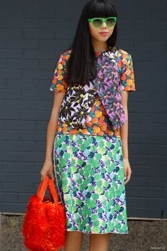 Susie splashing some colour about. NYC. #SusieLau #StyleBubble