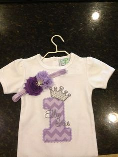 Personalized Purple Princess Shirt or Onesie by LKiddieKreations, $20.00