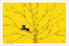 Adorable cat illustrations by Japanese artist Toshinori Mori  #cats #illustration #cute