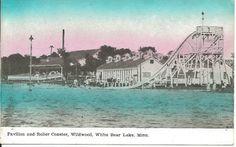 Roller Coaster Wildwood White Bear Lake Minnesota MN Vintage PRE1920 Postcard | eBay White Bear Lake Minnesota, Lancaster County, Roller Coaster, More Fun, Poster, Vintage, World, Places, Amusement Parks