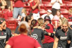 What a moment!!! University of South Carolina Softball defeats No. 13 Texas A&M 2-1 with a walk-off home run by Ashlyn Masters!  March 15, 2014