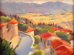 Jodie Wrenn Rippy Painting Cortola, Italy at Spectrum Art & Jewelry #painting #original artwork #Italy