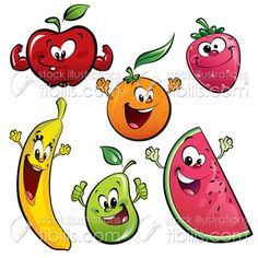 Fruit And Vegetables Cartoon Fruit And Veg, Fruits And Vegetables, Fruits Decoration, Deco Fruit, Image Fruit, Vegetable Cartoon, Fruit Clipart, Fruit Cartoon, Year Anniversary Gifts