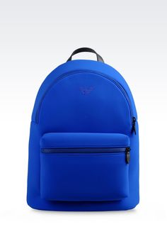 Emporio Armani Men Backpack - RUNWAY BACKPACK IN NEOPRENE Emporio Armani Official Online Store