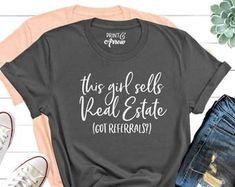 Realtor referral | Etsy Real Estate Gifts, Us Real Estate, Taco Shirt, Realtor Gifts, Etsy Business, Shirts For Girls, Custom Shirts, Girl Boss, Maryland