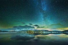 Milky Way over Vefsn, Norway