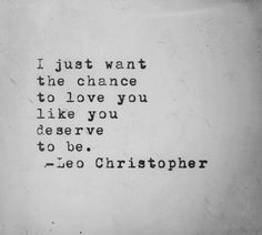 give me a chance.