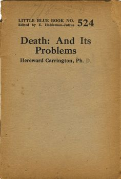 Death, And its problems