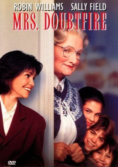"""MRS DOUBTFIRE with Robin Williams and Sally Fields.Amen used this film to demonstrate attention deficit disorder. Beginning scenes show Robin Williams say to his employer: """"In the words of Porky Pig. Film Movie, See Movie, Movie List, Comedy Movies, Cinema Tv, I Love Cinema, Robin Williams, Film Music Books, Music Tv"""