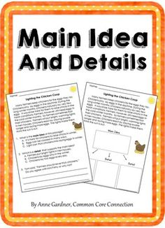 These passages are designed to help students become confident identifying the main idea of a text and understanding how details support the main idea.