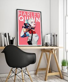 This unique DC Harley Quinn Poster Print is sure to make a statement. Based on the blockbuster superhero franchise this poster impresses and bring the wow factor to any room. This would be the perfect gift for any movie or superhero fan.   A range of sizes are available, if you require a custom print please get in contact with me.   A4 - 21 cm x 29.7 cm Smooth 180 gsm Art Paper   A3 – 29.7 cm x 42 cm Smooth 180 gsm Art Paper   A2 – 42 cm x 59.4 cm Satin 190gsm Poster Paper All Poster, Poster Prints, Movie Posters, Vivid Colors, Colours, Crisp Image, Minimalist Poster, Wow Products, All Print