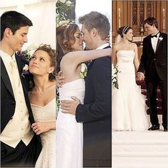 one tree hill weddings <3 (who wouldn't want a marriage like any of theirs?)