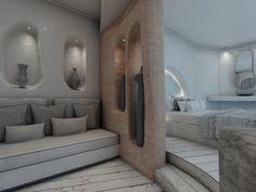 Indoor Architecture Aloni Hotel, ParosParos2018 - 2019PrivateWork in progress290 m2 Blue Design, Modern Design, Room Interior, Interior Design, Hotel Architecture, Hotel Reception, Villa Design, Cozy Corner, Beach Condo