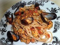 Spaghetti con le cozze_Spaghetti with mussels