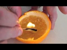 How to make a clementine candle