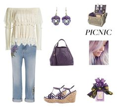 """Picnic with Purple (contest)"" by scolab ❤ liked on Polyvore featuring Alexander McQueen, Yves Saint Laurent, Gucci and Vera Wang"