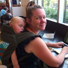 """• Roan (at 8 months) and Sara •  """"Amazing patient and knowledgeable babywearing instructor. Helped me get my first successful back carry in a wrap and haven't looked back. Has tons of information on different carriers and wraps and how to use them properly and comfortably."""" #littlezenone #babywearing #babywearingconsultant #babywearingftw #babywearingTO #meitai #toddlerwearing #blsshare"""