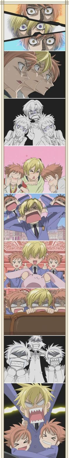 3 idiots. And my three favorite characters in the show. (Ouran High School Host Club) I love this anime!! :D