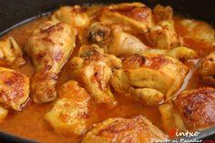 Receta de pollo guisado al azafrán
