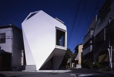 Mineral House This striking micro home in Japan is an amazing example of efficient design for small-space living. Designed by Tokyo-based Atelier Tekuto, Modern Architecture House, Japanese Architecture, Architecture Design, Building Architecture, House Tokyo, Futuristic Home, Micro House, Japanese House, Japanese Modern