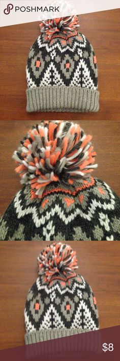 Hollister California Pom hat Cute stocking hat gray and pink big Pom on top soft and pretty  new with tag Hollister Accessories Hats