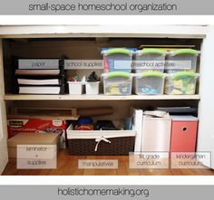 School Room Organization For A Big Family