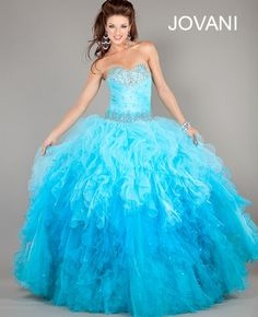 Jovani Ballgown Style 6708 #Jovani #Quinceanera #Prom #Fashion #Princess #girly