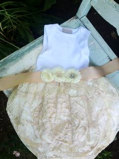 Luxe Lace Infant Shabby Chic Tutu Onesie Dress  EtsyKids Team