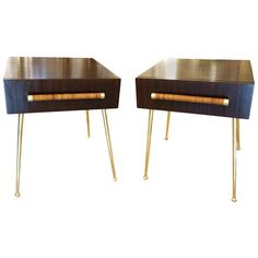 Elegant Pair of Side or End Tables by Robsjohn Gibbins for Widdicomp | From a unique collection of antique and modern side tables at http://www.1stdibs.com/furniture/tables/side-tables/