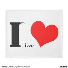 I Am In Love Duvet Cover
