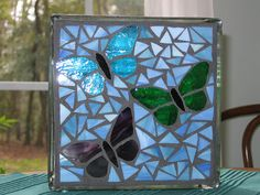 Lighted glass block - butterflies by p_cushing_magic (Pat), via Flickr