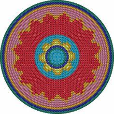 Oilily-look-Like Zomertas – Maak het hip Crochet Table Runner Pattern, Tapestry Crochet Patterns, Crochet Motifs, Crochet Chart, Knitting Patterns, Free Crochet, Boho Tapestry, Tapestry Bag, Cross Stitch Pattern Maker