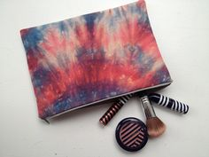 Tie dye cosmetic bag from Lish