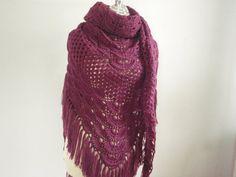 Plum evening shawl by NRWhandmade on Etsy, $65.00