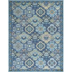 Surya ANI1019-710103 Anika 8' x 10' Rectangle Synthetic Power Loomed Traditional - Blue