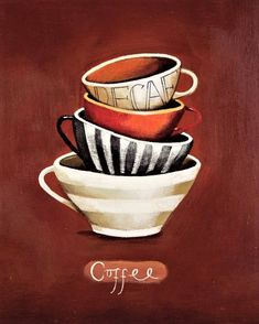 Decaf Coffee - Counted cross stitch pattern in PDF format by Maxispatterns on Etsy