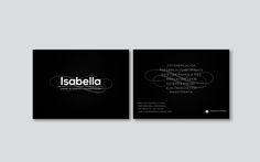 Tarjetas de visita Isabella Centro de Estética y Fotodepilación http://cargocollective.com/aleksfigueira/Isabella