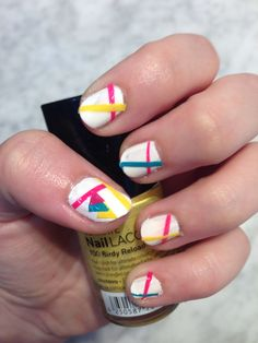 Colorful nail style