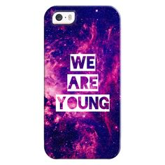 "iPhone 6 Plus/6/5/5s/5c Bezel Case - ""We Are Young"" Purple Blue Pink... ($35) ❤ liked on Polyvore featuring accessories, tech accessories, phone, phone cases, iphone case, iphone cover case, galaxy iphone case, pink iphone case and apple iphone cases"