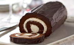 Κορμός σοκολάτας με κρέμα μασκαρπόνε