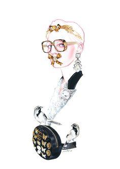 GUCCI Fashion Illustration by Antonio Soares