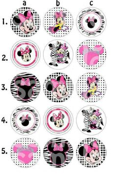 Items similar to Minnie Mouse Inspired Bottle Cap Images on Etsy Minnie Mouse Birthday Decorations, Mickey Mouse Birthday, Minnie Mouse Party, Mouse Parties, Jar Crafts, Diy And Crafts, Bottle Top Crafts, Bottle Cap Jewelry, Bottle Cap Magnets