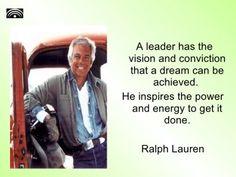 Ralph Lauren on leadership.