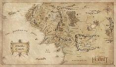 Poster The Hobbit Carte Terre du Milieu