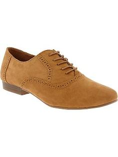 Women's Sueded Oxford Shoes | Old Navy