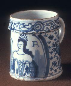 Tin glazed mug, English