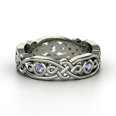 I have an anniversary coming up...  Brilliant Alhambra Band, Sterling Silver Ring with Iolite from Gemvara