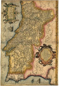 When it comes to Portugal, history becomes romantic, intriguing and inspiring. Lying on the Iberian Peninsula, in Western Europe, Portugal has gifted much to the world. Portuguese Empire, Portuguese Culture, Vintage Maps, Antique Maps, Ancient Maps, History Of Portugal, Visit Portugal, Old Maps, City Maps