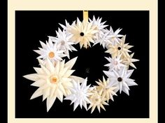 Awesome paper wreath - paper flower - quick and easy. Great ideas for Easter decoration - YouTube